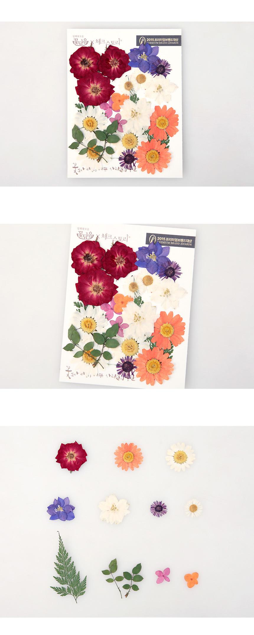 압화 꽃모음 A타입 - 미니장미 꽃모음 - 체크스토리 플라레터, 5,900원, 압화 공예, 압화 공예 재료